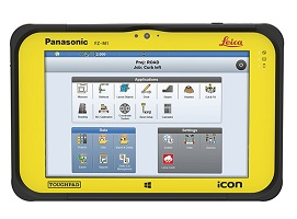Leica iCON software on CC80 tablet display